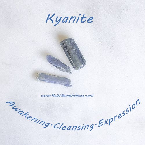 Blue Kyanite: Stone of Clearing — Reiki Gem Wellness