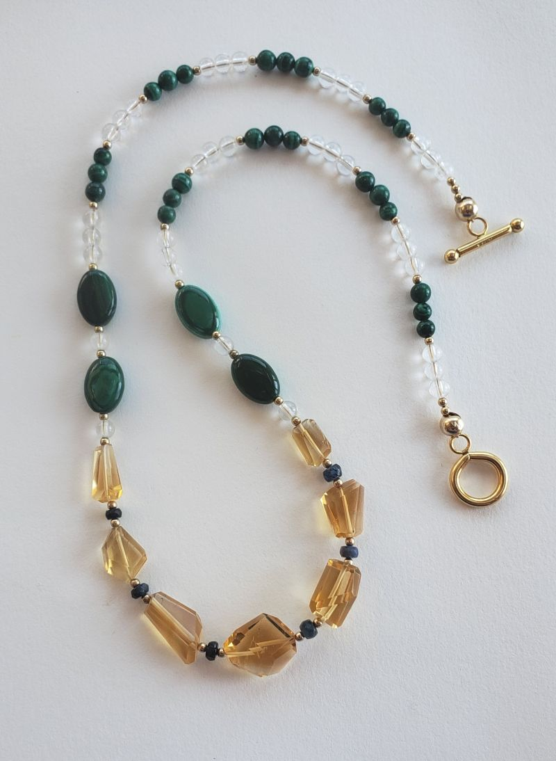 Citrine, Malachite, Sapphire and Crystal Necklace — Lady Kamberlyn…. intuitive guidance and spiritual advice
